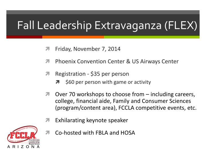 Fall Leadership Extravaganza (FLEX)