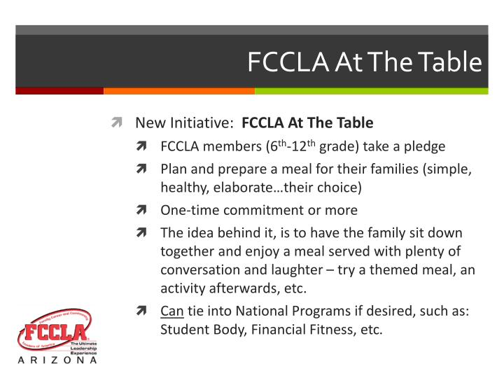 FCCLA At The Table