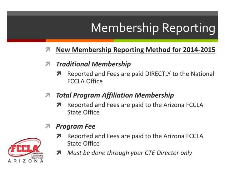 Membership Reporting