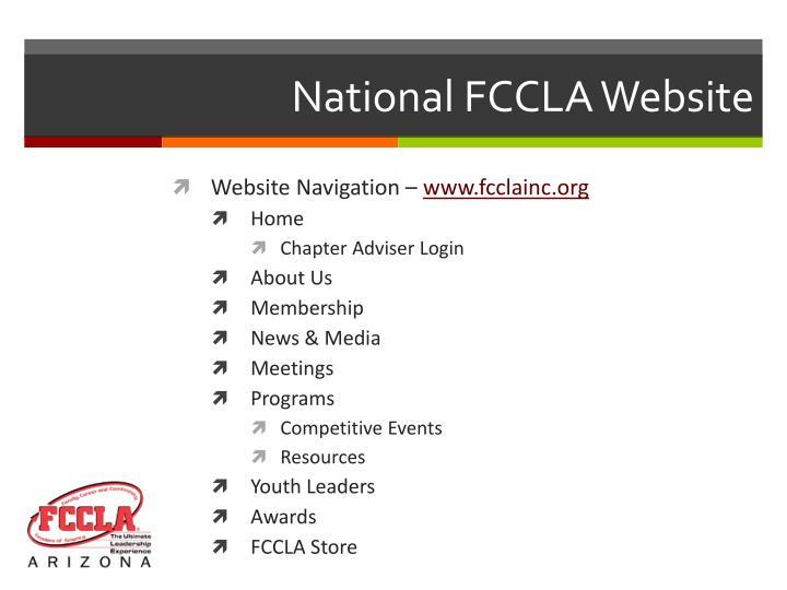 National FCCLA Website