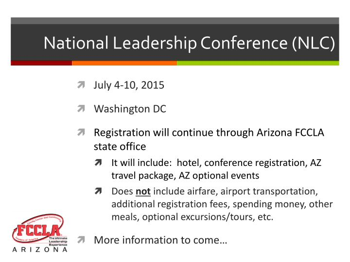 National Leadership Conference (NLC)