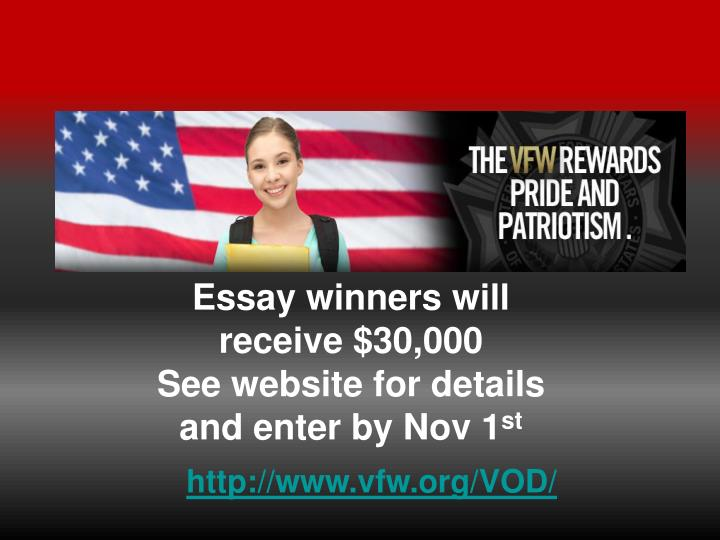 Essay winners will