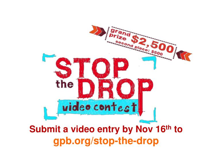 Submit a video entry by Nov 16