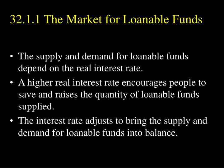 32.1.1 The Market for Loanable Funds