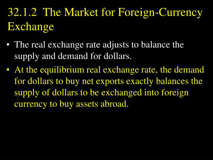 32.1.2  The Market for Foreign-Currency Exchange