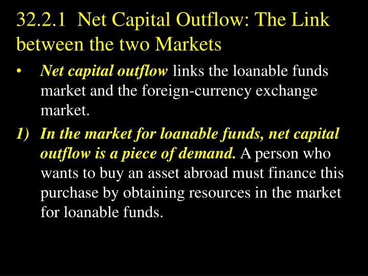 32.2.1  Net Capital Outflow: The Link between the two Markets
