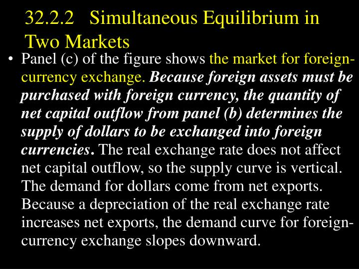 32.2.2   Simultaneous Equilibrium in Two Markets
