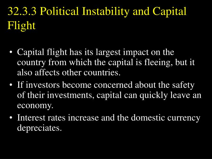 32.3.3 Political Instability and Capital Flight