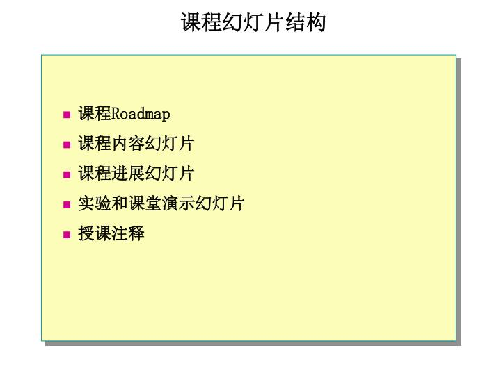 课程幻灯片结构