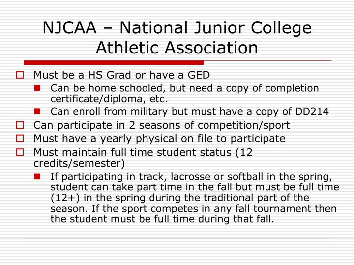 NJCAA – National Junior College Athletic Association