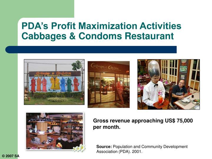 PDA's Profit Maximization Activities