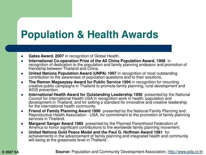 Population & Health Awards