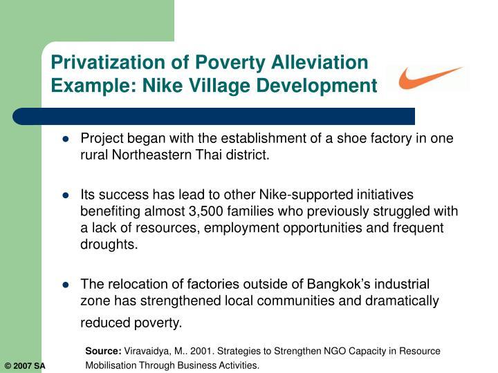 Privatization of Poverty Alleviation
