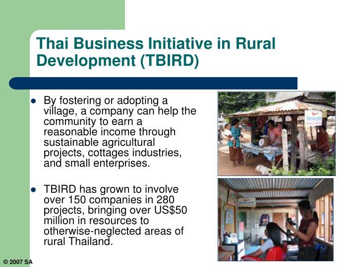 Thai Business Initiative in Rural Development (TBIRD)