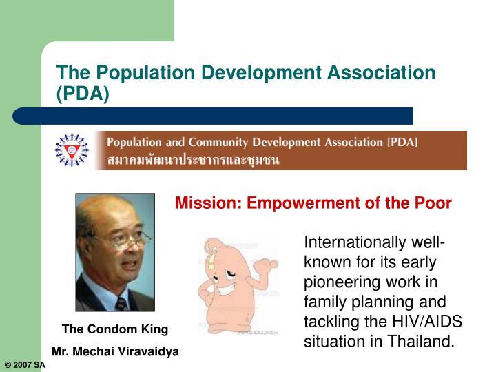The Population Development Association (PDA)