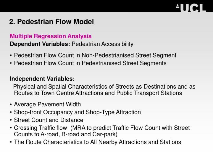 2. Pedestrian Flow Model