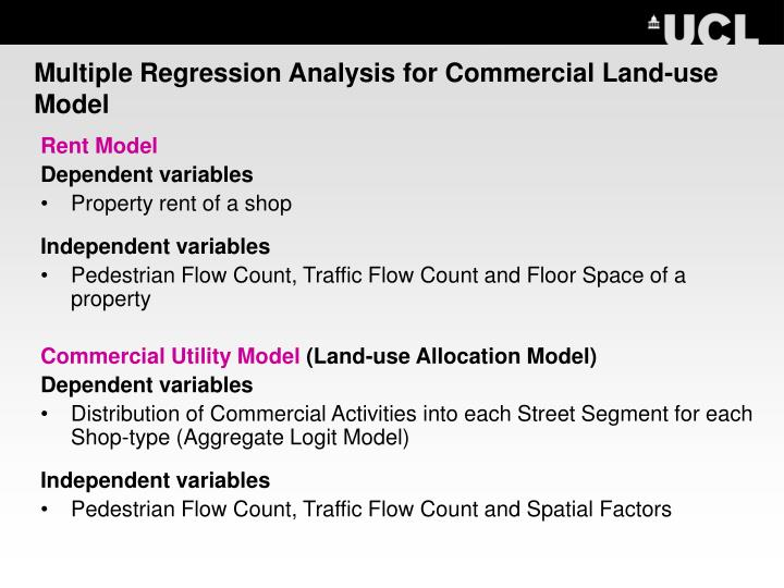Multiple Regression Analysis for Commercial Land-use Model