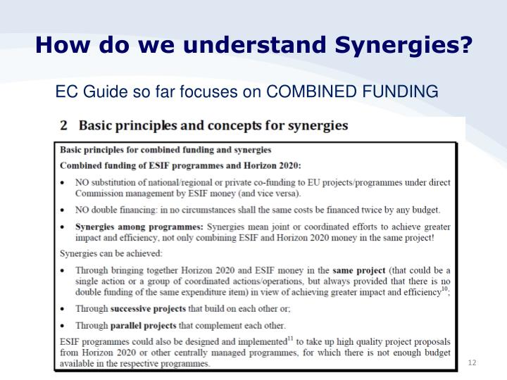 How do we understand Synergies?