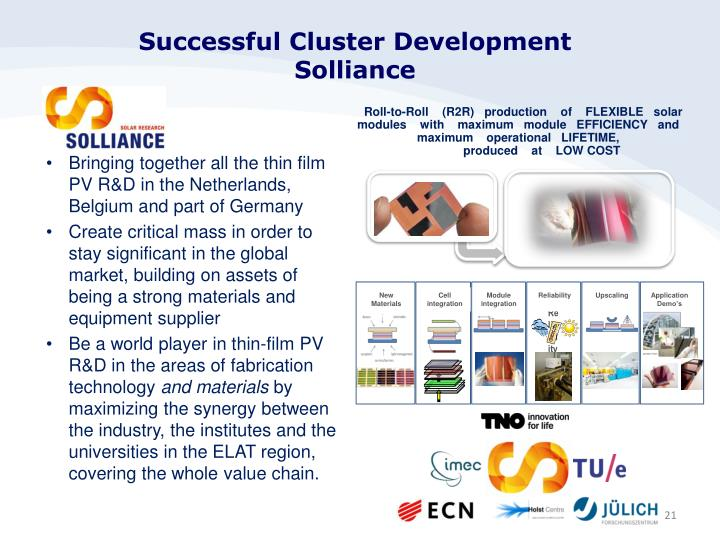 Successful Cluster Development