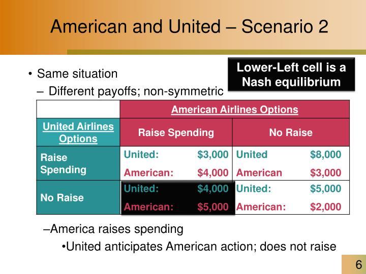 American and United – Scenario 2