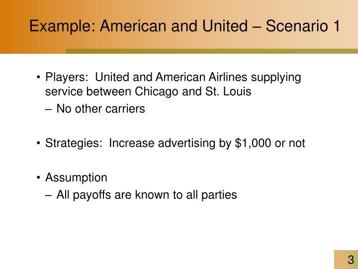 Example: American and United – Scenario 1