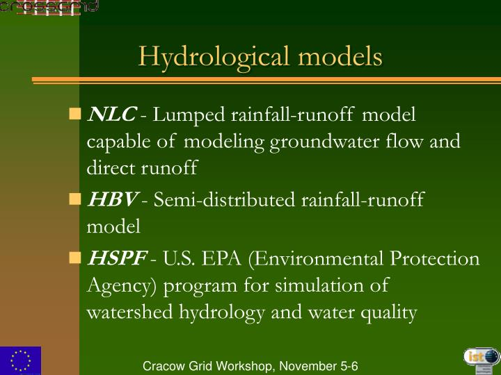 Hydrological models