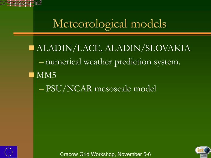 Meteorological models
