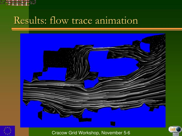 Results: flow trace animation