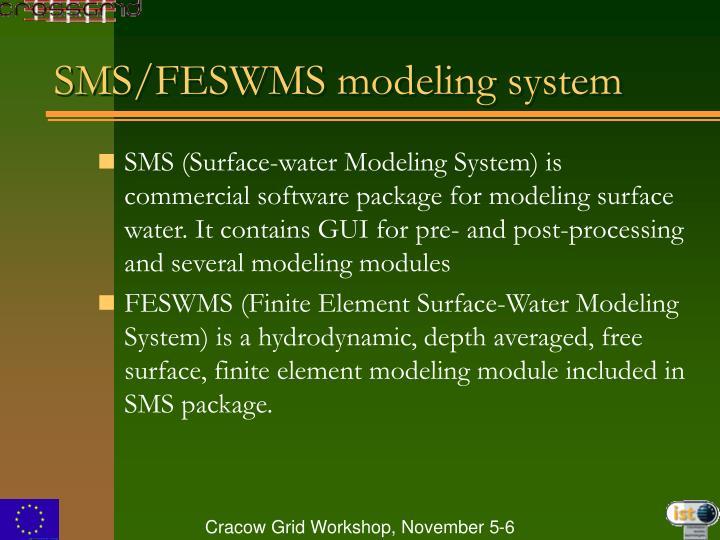SMS/FESWMS modeling system