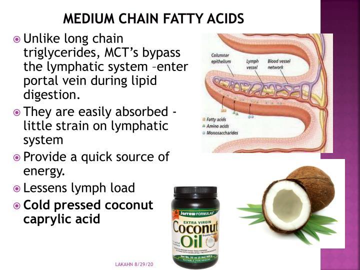 Medium chain fatty acids
