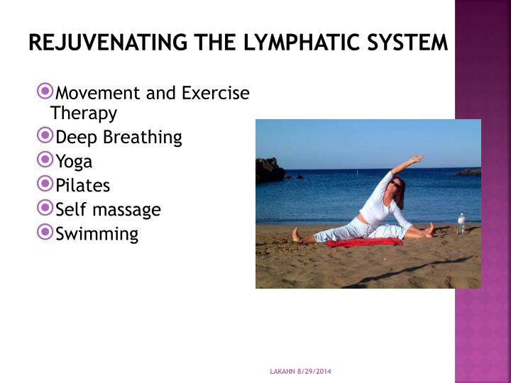 Rejuvenating the lymphatic system