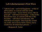 left libertarianism s first wave6