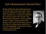 left libertarianism s second wave2