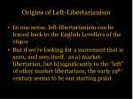 origins of left libertarianism