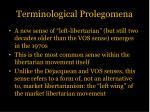 terminological prolegomena2