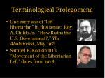 terminological prolegomena3