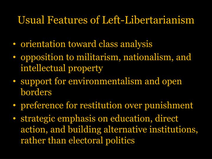 Usual Features of Left-Libertarianism