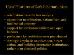 usual features of left libertarianism1
