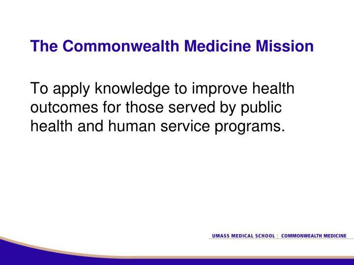 The Commonwealth Medicine Mission