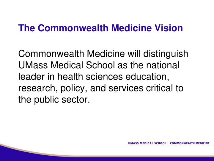The Commonwealth Medicine Vision