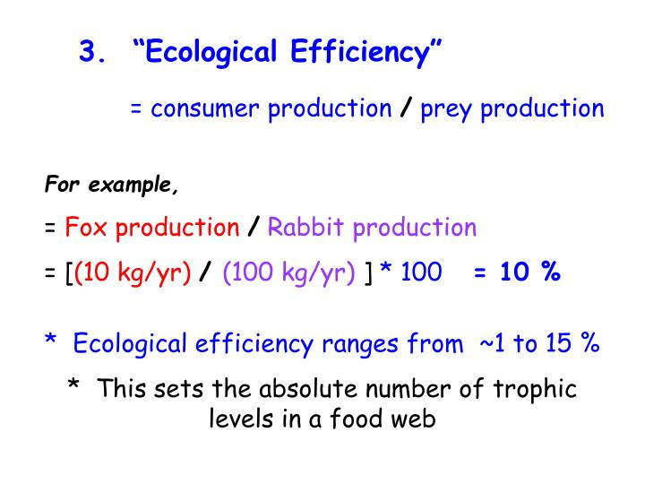 "3.  ""Ecological Efficiency"""