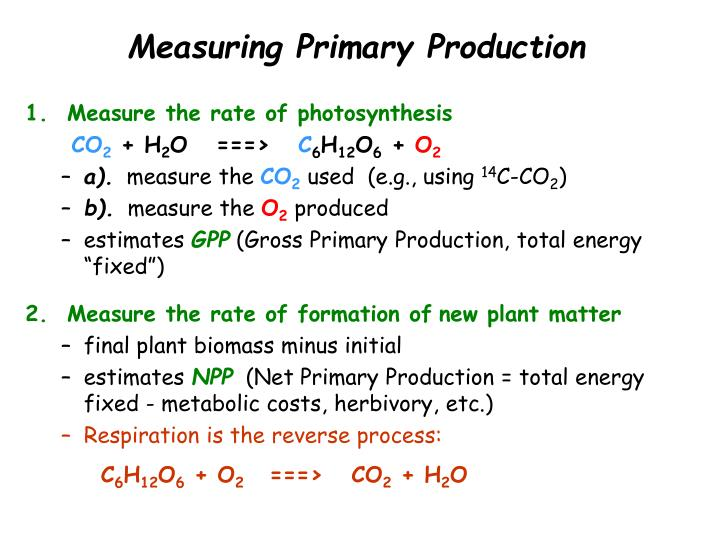 Measuring Primary Production