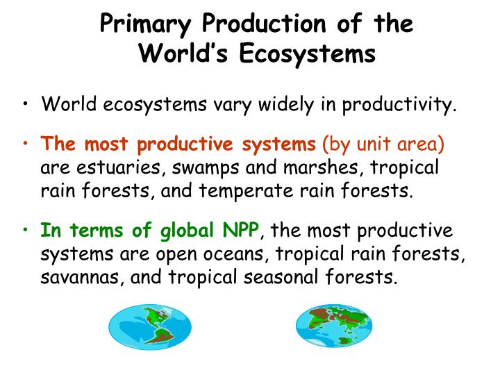 Primary Production of the World's Ecosystems