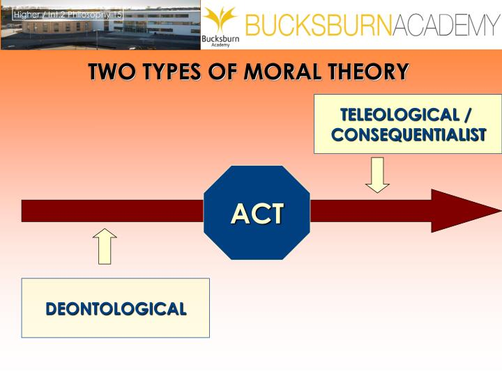 teleological vs deontological Teleology and deontology are two of the three major approaches to the study of ethics deontological ethics is a rule driven system, with moral status contingent on.