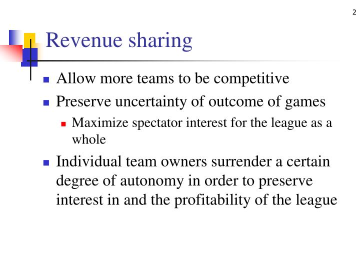 Revenue sharing