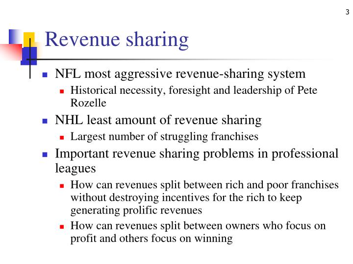 Revenue sharing1