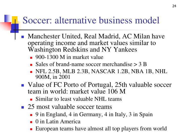 Soccer: alternative business model
