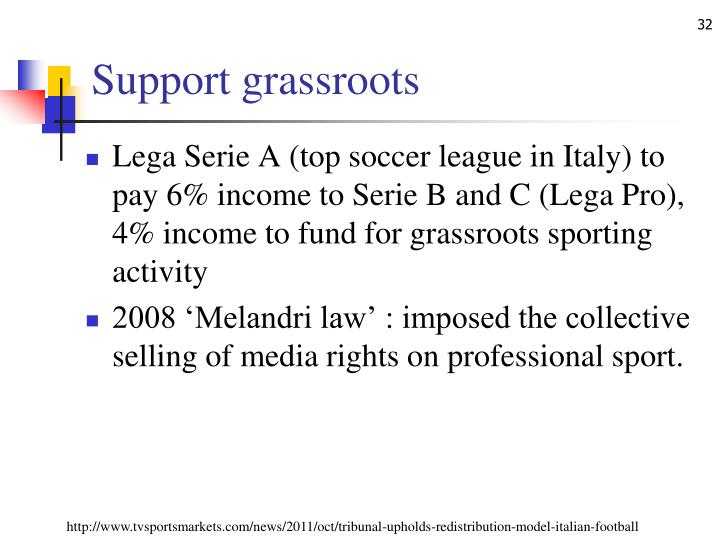 Support grassroots