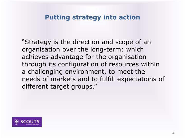 Putting strategy into action