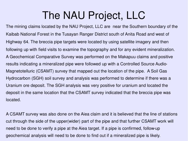 The nau project llc1